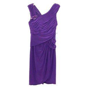 NEW Adrianna Papell Ruched Beaded Dress AV